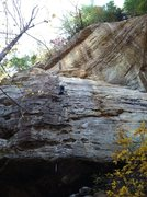 "Rock Climbing Photo: Pat finishing up on ""Creature Feature""."