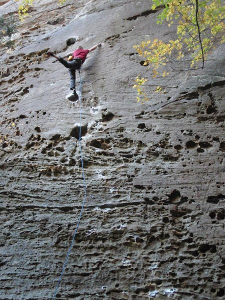 Rock Climbing Photo: Zach unintentionally cutting feet on Hippocrite. S...