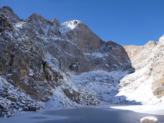 Rock Climbing Photo: Long's Peak - Chasm Lake.