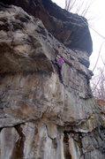 Rock Climbing Photo: Laura seconding Sludge Factory.