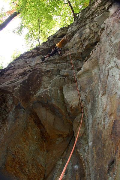 Tim climbing Easier Said Than Done.