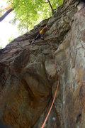 Rock Climbing Photo: Tim climbing Easier Said Than Done.