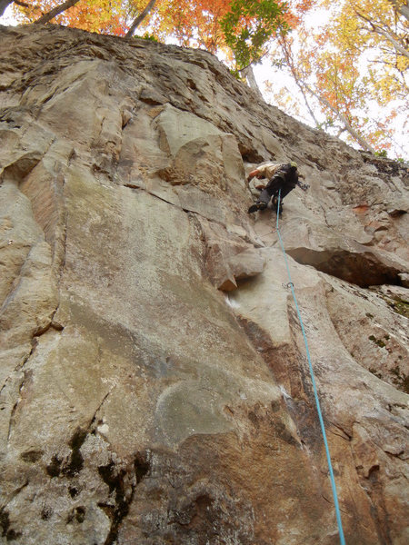 Rock Climbing Photo: Tim climbing Deliverance.