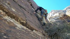 Rock Climbing Photo: Dustin Finishing off Pitch 3. Creature Feature.