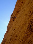 Rock Climbing Photo: Getting over the roof