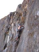 Rock Climbing Photo: thin feet at the third bolt