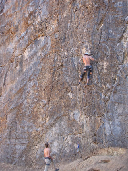 Rock Climbing Photo: the most fun route on the scale wall, very easy bu...
