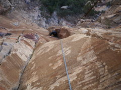 Rock Climbing Photo: Pitch 1, last dihedral section.