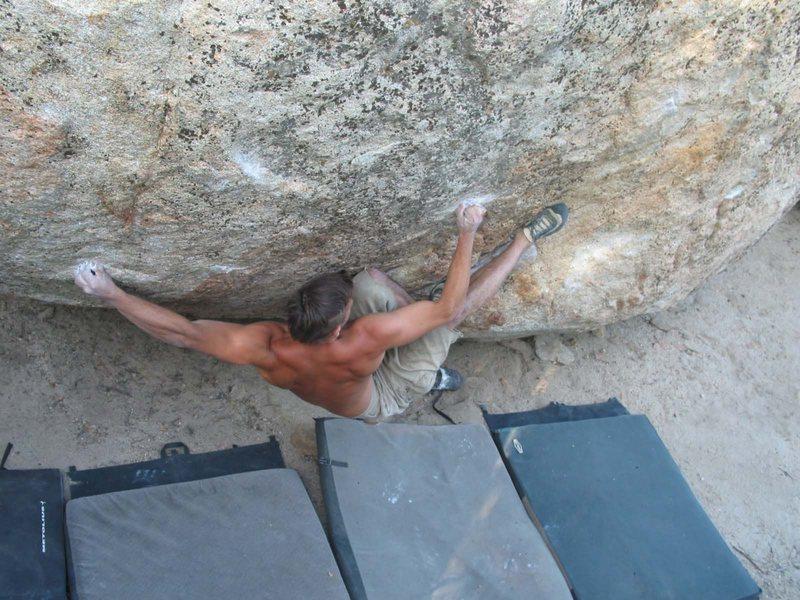 Rock Climbing Photo: Nothing But Sunshine (V8/9) on the Peanut, put up ...