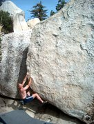 Rock Climbing Photo: The Transom (V2), the other arete on the Bow Sprit...