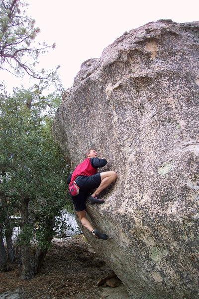 Rock Climbing Photo: Black Tower (V4), just downhill from B1 Traverse.
