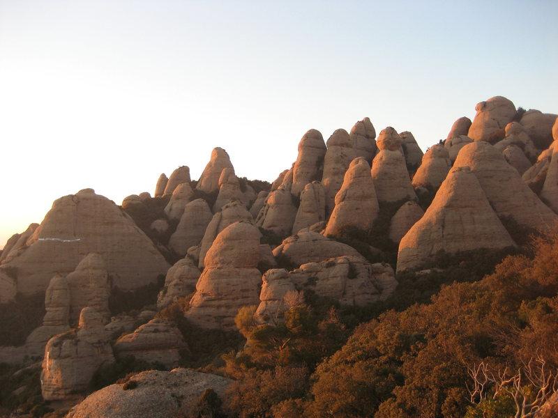 Agulles area, Montserrat.