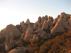 Rock Climbing Photo: Agulles area, Montserrat.