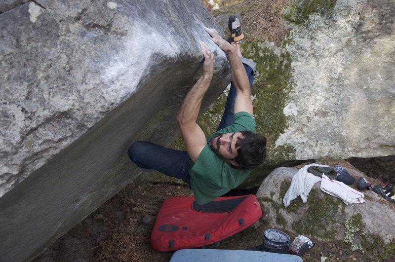 Rock Climbing Photo: Gorges d'Apremont. 7a