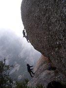 Rock Climbing Photo: Roca d'en Barberà, 7b+. Sant Benet. Montserrat