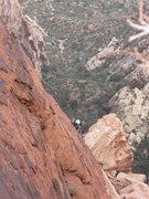 Rock Climbing Photo: High on the Black Dagger