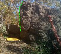 Rock Climbing Photo: beta on photo