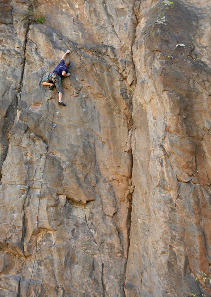 "Keith on ""Pitch"", a short but fun route"