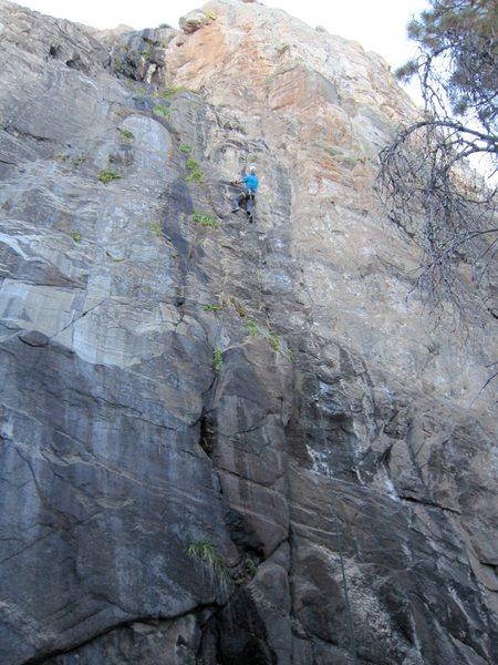 Rock Climbing Photo: Jimbo on the MBM.