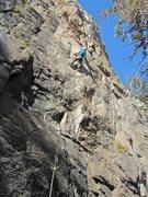 Rock Climbing Photo: Jimbo on the FA.