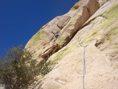 Rock Climbing Photo: Leading P3 of Absinthe of Mallet.  Photo by James ...