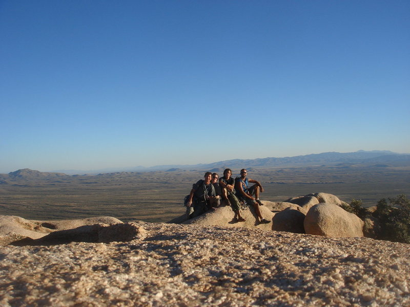 Rock Climbing Photo: Summit pic: me, Sara, James and Ben atop Sheepshea...