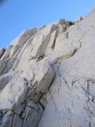 Rock Climbing Photo: Top of Pitch 7 (?) up a 5.7 crack then left to an ...