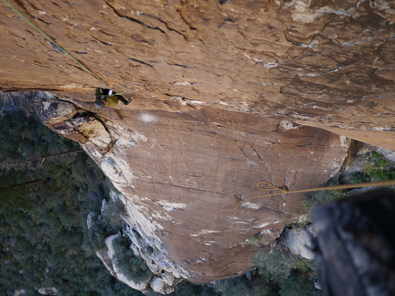 Rock Climbing Photo: 2nd Pitch of Breakaway, gives you a good idea how ...