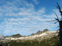 Rock Climbing Photo: Plane wreck tower and the upper basin.