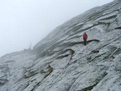 Rock Climbing Photo: Descending through the fog.