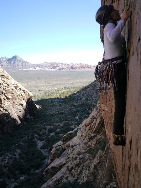 Rock Climbing Photo: Cassondra, 2nd pitch.