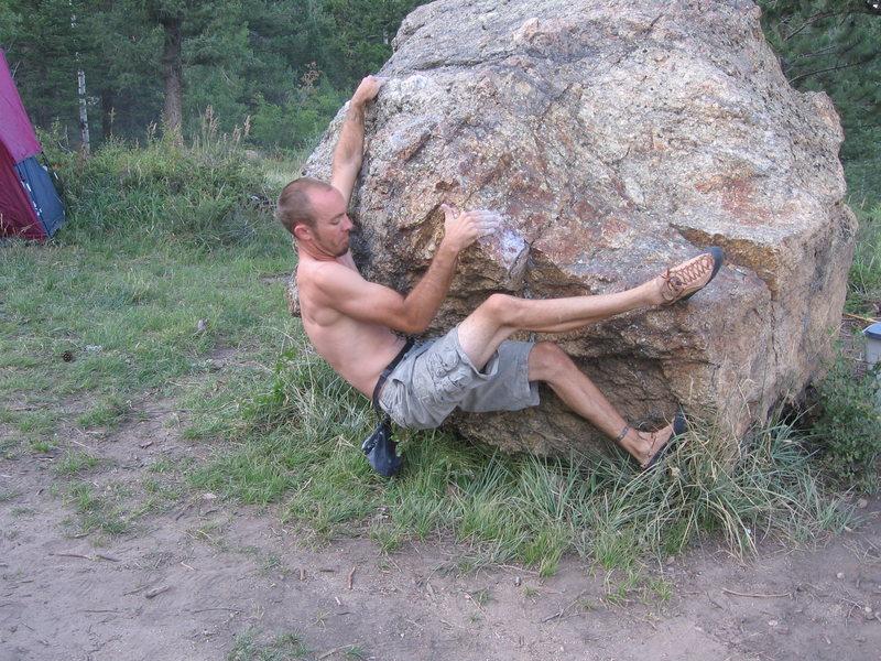 Rock Climbing Photo: Random camp site boulder