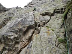 Rock Climbing Photo: pitch 1