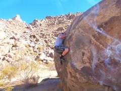 Rock Climbing Photo: Working the sloper with matched hands.This here ca...