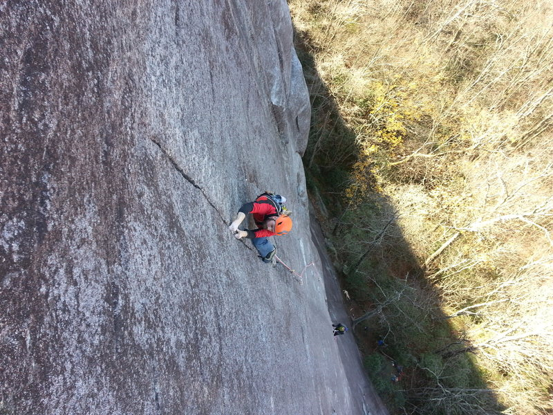 Rock Climbing Photo: A nice little route called cuttin' the rug.  Jon l...