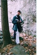 Rock Climbing Photo: Me Climbing at Coopers Rock (2005)