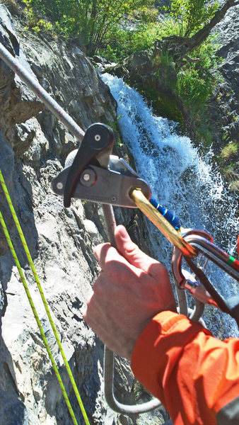Rock Climbing Photo: Mid summer...No ice to climb, but a fun place to t...