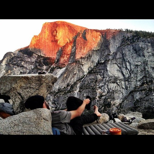 Fixed to 6 then enjoyed the sunset against half dome on dinner ledge. Unforgettable.