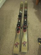 Rock Climbing Photo: Karhu Storm skis (Length 177cm) with Fritschi Free...