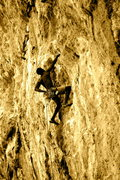 "Rock Climbing Photo: Climbing up ""Feta"" in the Odyssey sector..."