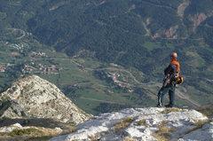 Rock Climbing Photo: Here is Mark descending the Pollego Inferior ridge...