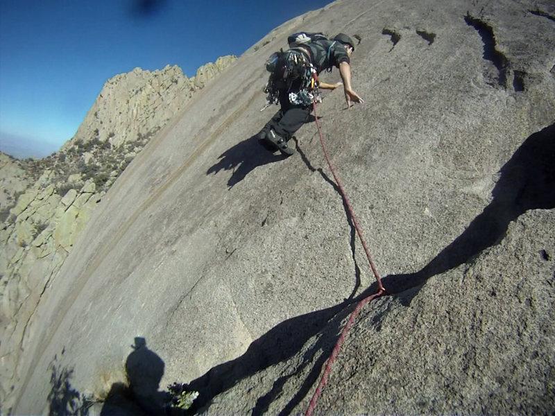 Rock Climbing Photo: ian on the slab traverse