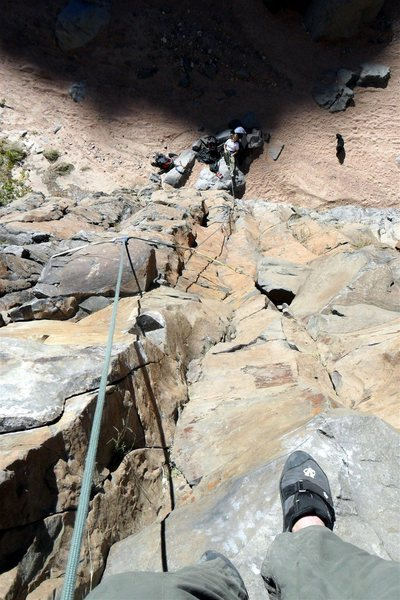 Rock Climbing Photo: I thought there were enough small cracks here and ...