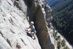 Rock Climbing Photo: Bihedral area Boulder Canyon