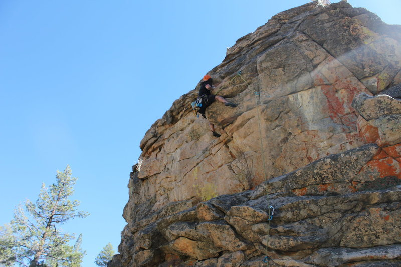 "Route called ""Trip like I do"" 10b at 8,000 foot crag"