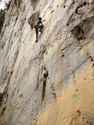 Rock Climbing Photo: Mackie on White Flower (the first part of Jack Spa...