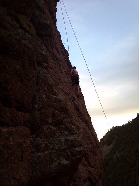 Rock Climbing Photo: Footwork up the crag.