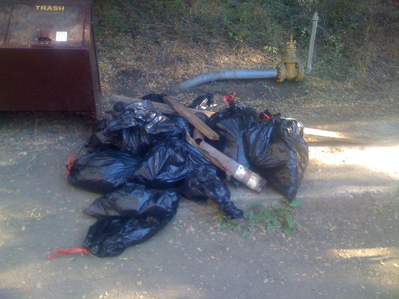 Rock Climbing Photo: Trash from the 3rd Annual Malibu Creek Adopt-A-Cra...