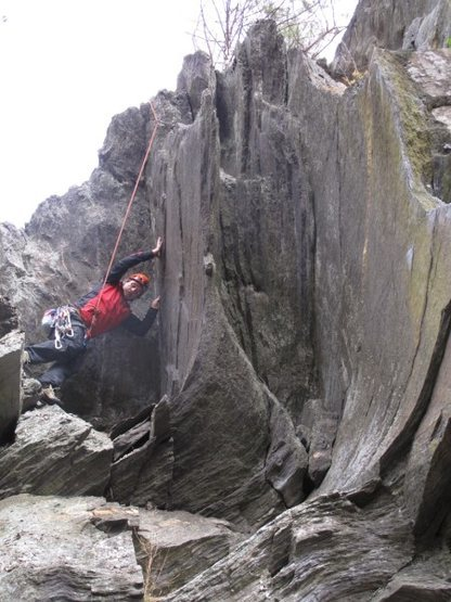 Rock Climbing Photo: Getting into the crack