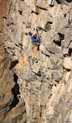 Rock Climbing Photo: Ben Hanna on the lower slab Survival of the Fittes...